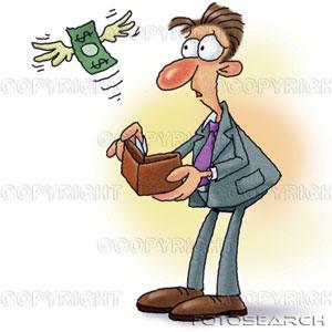 BLOGUE DINHEIRO quadro-dinheiro-voando-saida-homem-carteira-